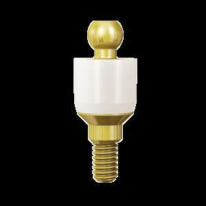 Ball Attachment Abutment ZiRing H5mm Ø2.50mm